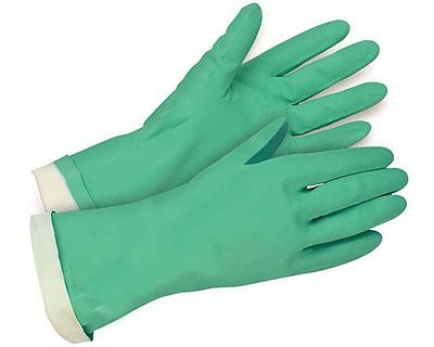 Green Nitrile Chemical Gloves